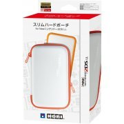 Slim Hard Pouch for New 2DS LL (White x Orange) (Japan)