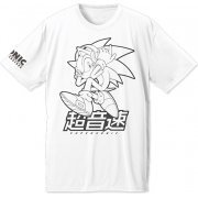 Sonic The Hedgehog Dry T-shirt White (L Size) (Japan)