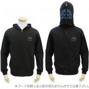 Pac-Man Full Zippered Hoodie Black (L Size) (Japan)