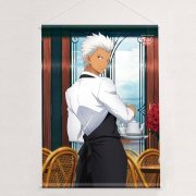 Fate/stay Night Unlimited Blade Works Original Illustration B2 Wall Scroll with Limited Clear File: Archer / Cafe (Japan)