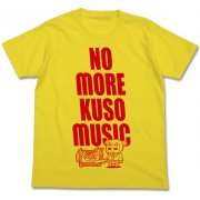 Pop Team Epic - Kuso Music T-shirt Yellow (S Size) (Japan)