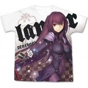 Fate/Grand Order - Scathach Full Graphic T-shirt White (XL Size) (Japan)