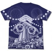 Taiko No Tatsujin All Print T-shirt Night Blue (L Size) (Japan)