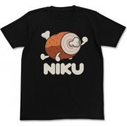 Taiko No Tatsujin - Niku T-shirt Black (XL Size) (Japan)