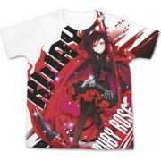 Rwby - Ruby Rose Full Graphic T-shirt White (S Size) (Japan)