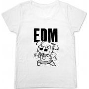 Pop Team Epic - EDM Girls Cutsew Shirt White (L Size) (Japan)
