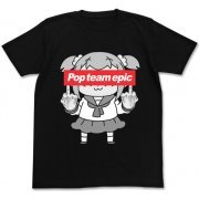 Pop Team Epic - No Gyouretsu Ga Dekiru T-shirt Black (M Size) (Japan)