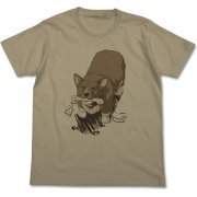 Cowboy Bebop - Ein With Bone-shaped Gum T-shirt Sand Khaki (M Size) (Japan)