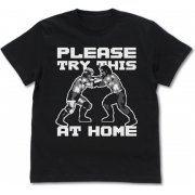 Fire Pro Wrestling World - Fire Pro Lock-up T-shirt Black (L Size) (Japan)