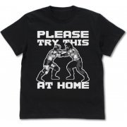 Fire Pro Wrestling World - Fire Pro Lock-up T-shirt Black (XL Size) (Japan)