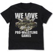 Fire Pro Wrestling World - Pro Wrestling Games T-shirt Black (L Size) (Japan)