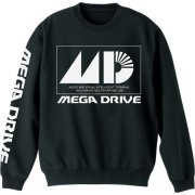 Mega Drive Sweat Shirt Black (XL Size) (Japan)