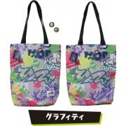 Splatoon 2 Tote Bag With Can Badge 02 - Graffiti (Japan)