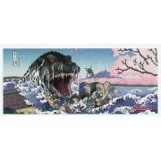 Godzilla And Sakura Face Towel (Japan)