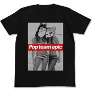 Pop Team Epic - Popuko And Pipimi Swimsuit Ver. T-shirt Black (S Size) (Japan)