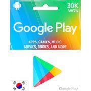 Google Play Gift Card (30000 Won) (Korea)