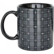 Kingdom Hearts III Mug Cup Dark Monogram Black (Japan)