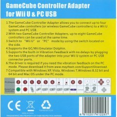 GameCube Controller Adapter for Wii U & PC USB