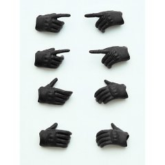 LITTLE ARMORY 1/12 SCALE RUNNER KIT: LITTLEARMORY-OP3 FIGMA TACTICAL GLOVES (STEALTH BLACK) (RE-RUN) Tomytec
