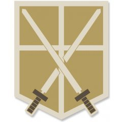 ATTACK ON TITAN REMOVABLE PATCH: TRAINING CORPS (RE-RUN) Cospa