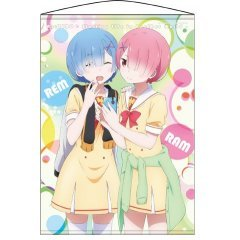 RE:ZERO KARA HAJIMERU ISEKAI WALL SCROLL: REM & RAM (RE-RUN) - Cospa