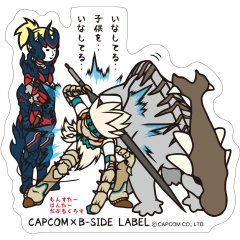 CAPCOM X B-SIDE LABEL MONSTER HUNTER XX STICKER: BRAVE STYLE Capcom