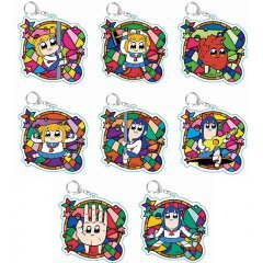 POP TEAM EPIC TOBICHARA TRADING ACRYLIC KEY CHAIN (SET OF 8 PIECES) by Lemitas
