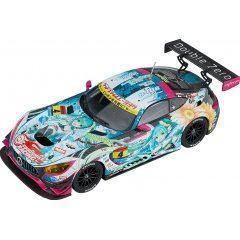HATSUNE MIKU GT PROJECT 1/43 SCALE MINIATURE CAR: GOOD SMILE HATSUNE MIKU AMG 2017 SEASON SERIES CHAMPION VER. Good Smile Racing