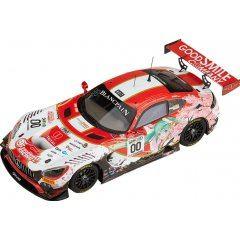HATSUNE MIKU GT PROJECT 1/43 SCALE MINIATURE CAR: GOOD SMILE HATSUNE MIKU AMG 2017 SPA24H VER. Good Smile Racing