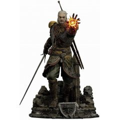 THE WITCHER 3 WILD HUNT 1/4 SCALE STATUE: PMW3-07 GERALT OF RIVIA SKELLIGE UNDVIK ARMOR Prime 1 Studio