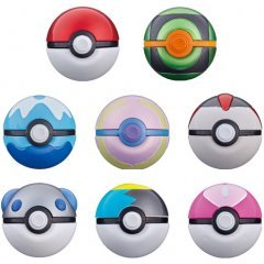 POCKET MONSTERS BALL COLLECTION REVIVAL (SET OF 8 PIECES) Tamashii (Bandai Toys)