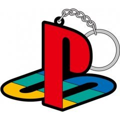 PLAYSTATION RUBBER KEYCHAIN: FIRST PLAYSTATION FAMILY MARK (RE-RUN) Cospa