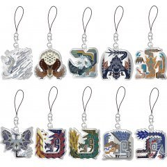 MONSTER HUNTER WORLD: ICEBORNE MONSTER ICON STAINED GLASS TYPE MASCOT COLLECTION (SET OF 10 PIECES) Capcom