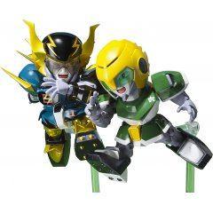 CHOGOKIN IRON LEAGUER: MACH WINDY AND GOLD FOOT Tamashii (Bandai Toys)