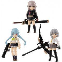 DESKTOP ARMY HEAVILY ARMED HIGH SCHOOL GIRLS 1ST SQUAD (SET OF 3 PACKS) Mega House
