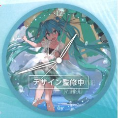 HATSUNE MIKU ORIGINAL ILLUSTRATION WALL CLOCK (A) Taito