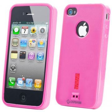 capdase soft jacket iphone 44s case solid furchsia 210066