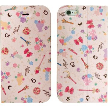gourmandise sailor moon iphone 6 flip case magnet type garden sl 395737