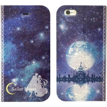 gourmandise sailor moon iphone 6 flip case magnet type silver mi 395741