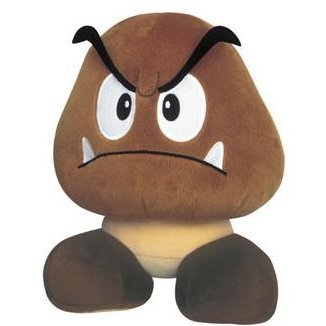 New Super Mario Bros. Sound Nuigurumi Plush Doll: Goomba