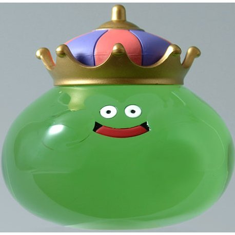 Dragon Quest Smile Slime Crystal Figure - King Slime (Green)