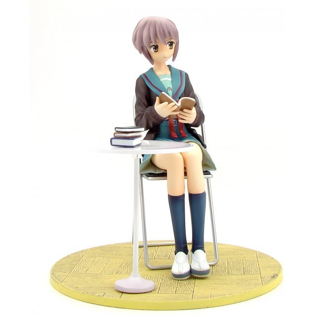 Konami Figure Collection: Suzumiya Haruhi no Yuutsu 1/8 Scale Pre-painted PVC Figure - Yuki Nagato (School Uniform Ver.)