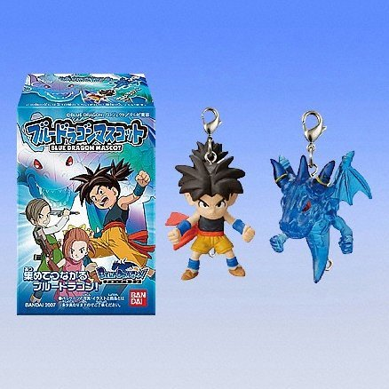Blue Dragon Mascot Candy Toy