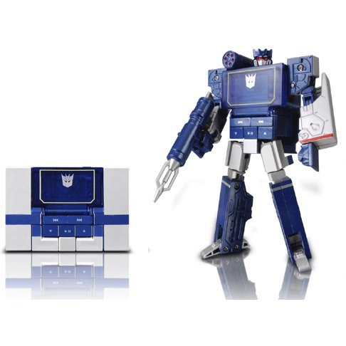 Transformers Music Label: Soundwave playing audio player (Sparkleblue version)