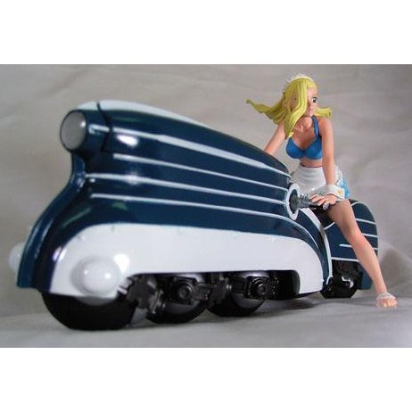 Solty Rei 1/20 Scale Painted PVC Figure - Rose and Bike (Blue Version)