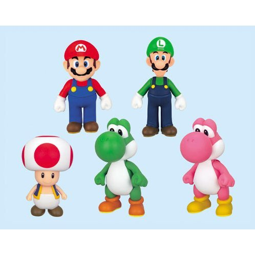 super mario characters figure collection 3 green yoshi