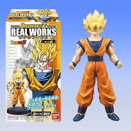 Dragon Ball Z Real Works Goku Vegeta Cell Candy Toy