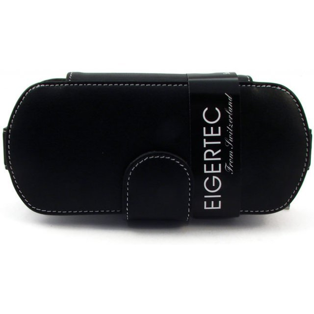 Eigertec Easy Access Leather Case (black & white)