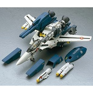 Macross Super pack Parts Set 1/48 Scale Pre-Painted PVC Model Kit: VF-1