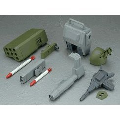 Votoms - 1/12 Scale Pre-Painted PVC The Last Red Shoulder Equipment Set for Scope dog Turbo Custom